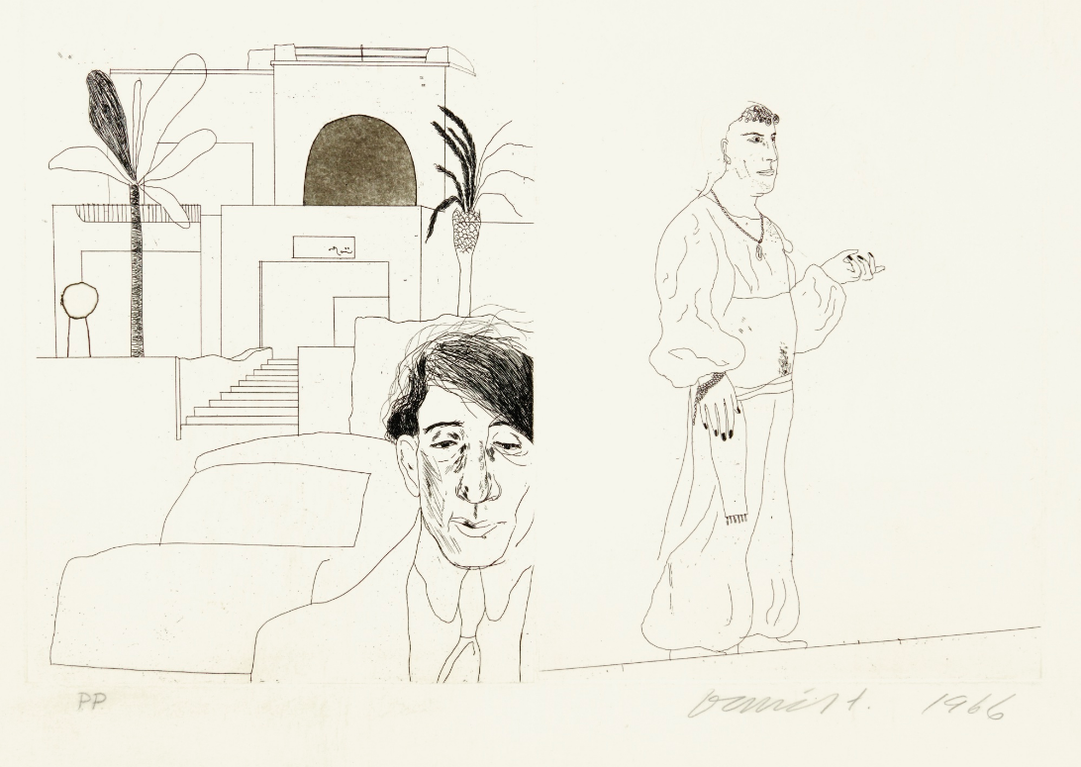 David Hockney-Portrait Of Cavafy II; And Untitled (See S. A. C., Mca Tokyo 47-59)-1966