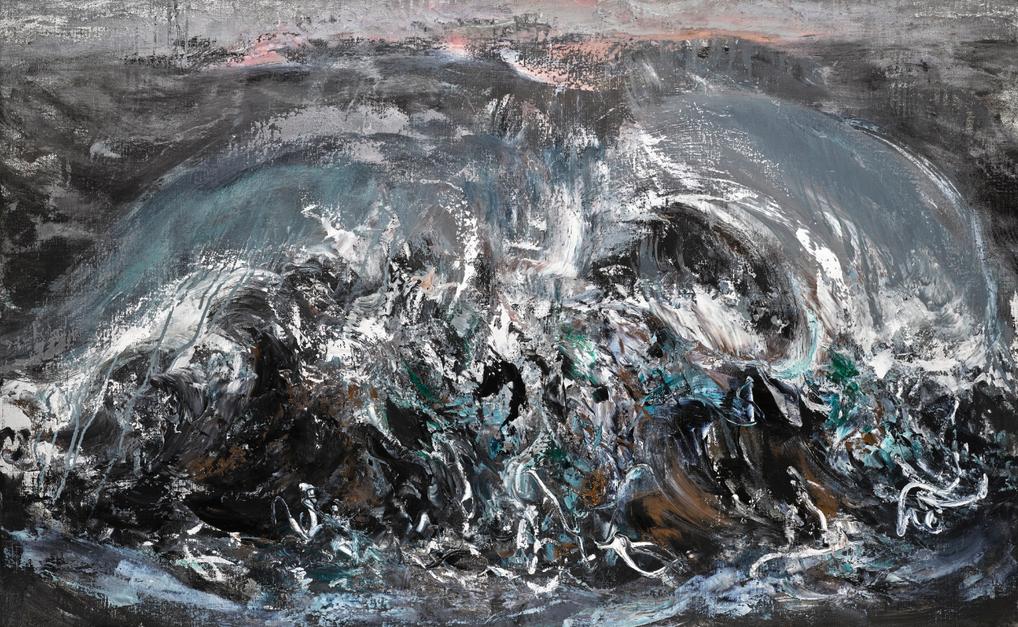 Maggi Hambling-Cascading Wave-2007
