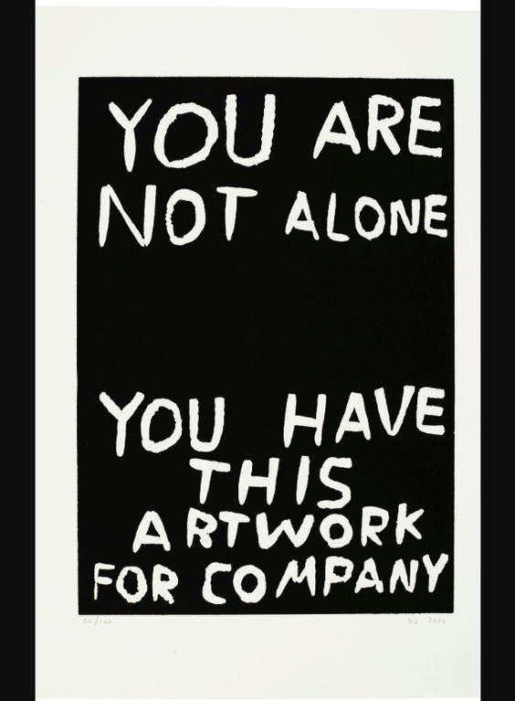 David Shrigley-You Are Not Alone; And Language-2014