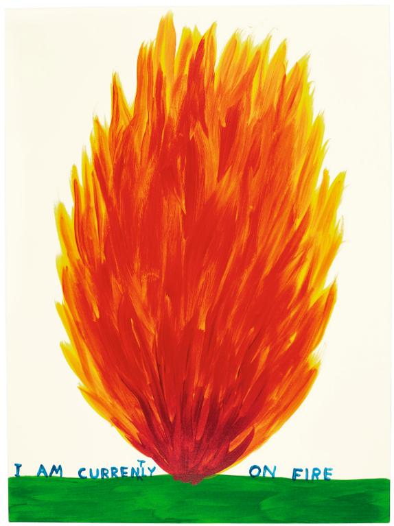 David Shrigley-I Am Currently On Fire-2018