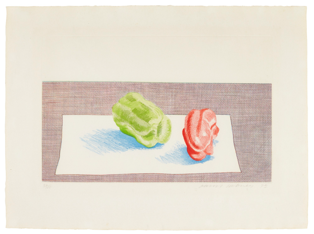 David Hockney-Two Peppers (Scottish Arts Council 156; Museum Of Contemporary Art Tokyo 140)-1973