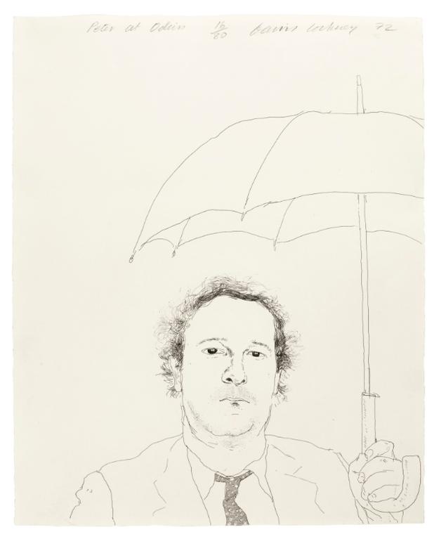 David Hockney-The Restaurateur (S.A.C. 128; Mca Tokyo 120)-1972