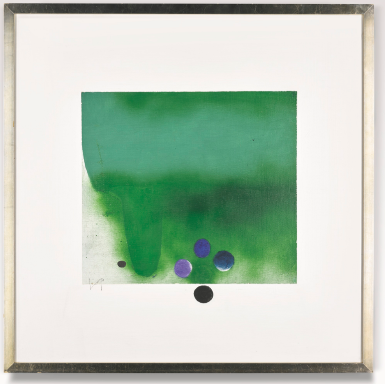 Victor Pasmore-Green Darkness-1984