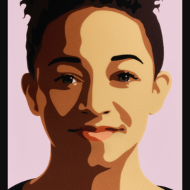 Julian Opie-Imogen Smiling-2015