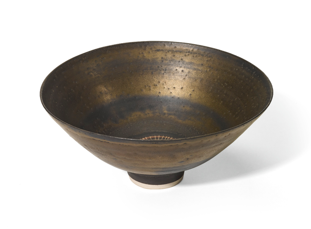 Dame Lucie Rie - Bronzed Bowl-1979