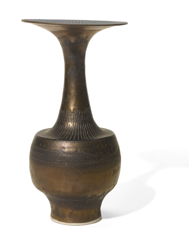 Dame Lucie Rie - Bottle Vase With Flaring Rim-1979