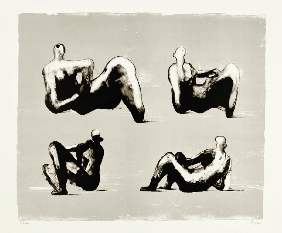 Henry Moore-Four Reclining Figures (Cramer 333)-1974