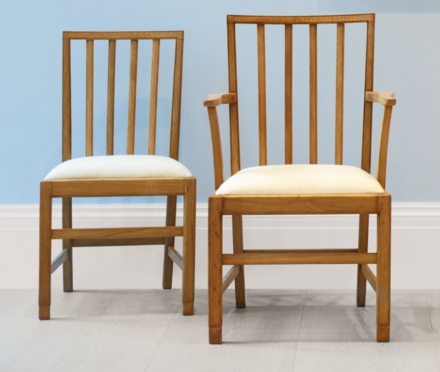 Edward Barnsley - Set Of Six Chairs And Two Armchairs-1936