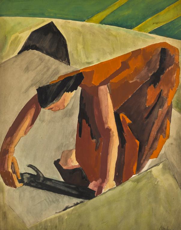 David Bomberg-Study For English Woman-1920