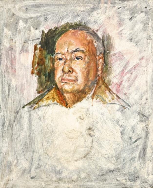 Bernard Hailstone - Portrait Of Winston Churchill-1955