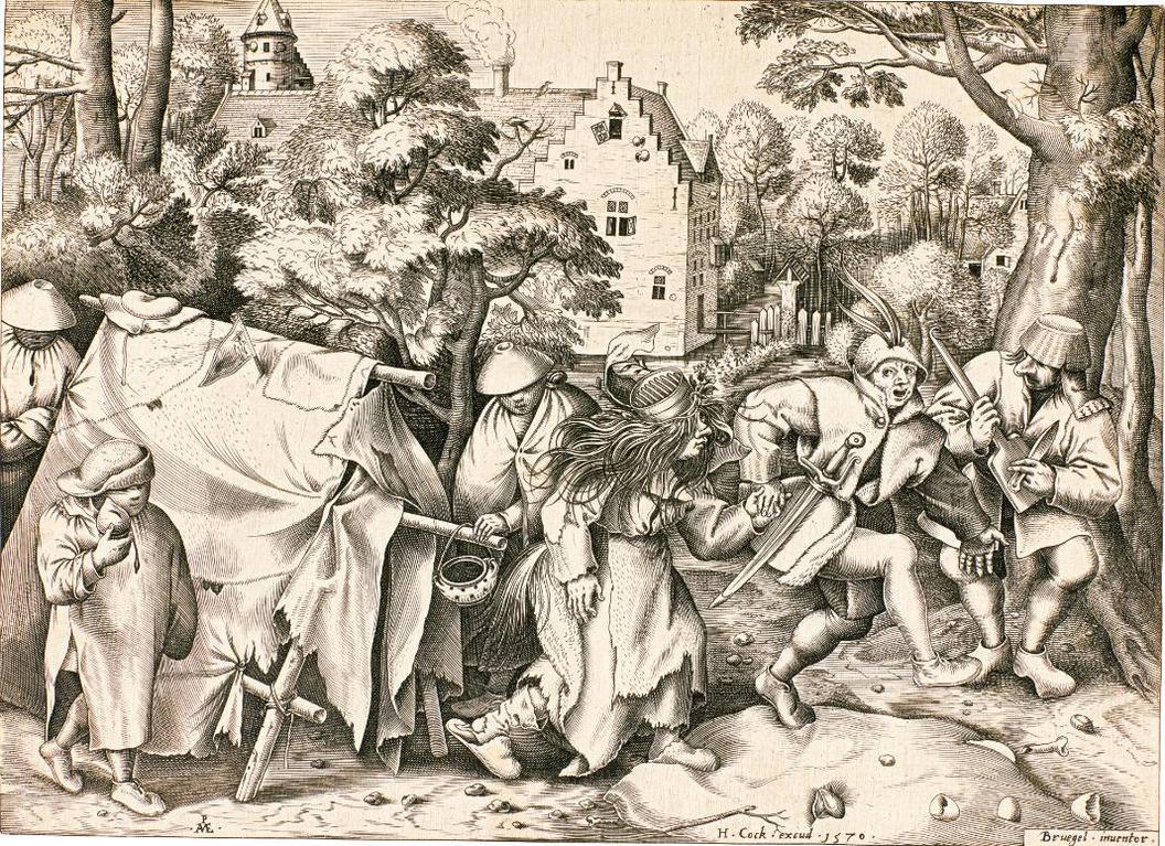 Pieter Bruegel the Elder-After Pieter Bruegel The Elder - The Dirty Bride Or The Wedding Of Mopsus And Nisa (Bastelaer, Hollstein 216; New Hollstein 45)-1570