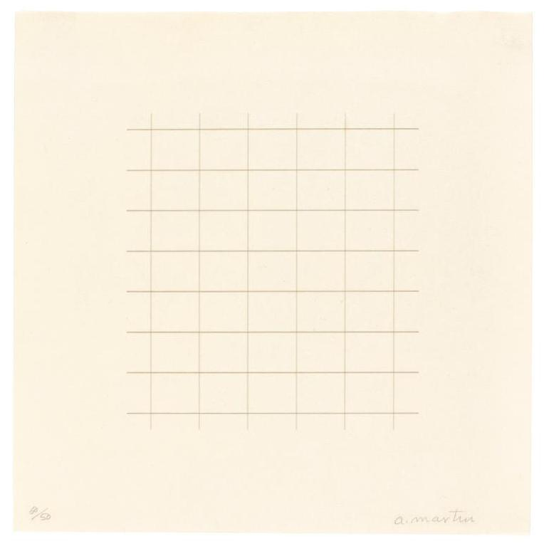 Agnes Martin-Untitled-1973