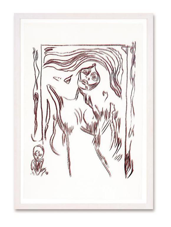 Andy Warhol-Madonna (After Munch) (F. & S. IIIa.60)-1984