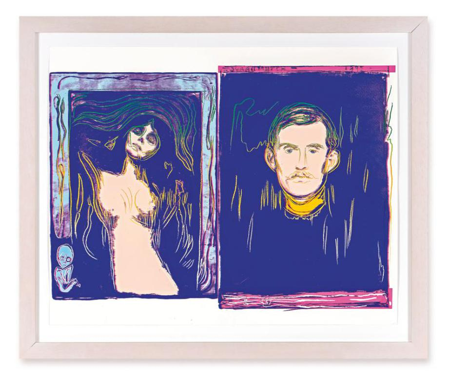 Andy Warhol-Madonna And Self-Portrait With Skeletons Arm (After Munch) (F. & S. Iiia.62)-1984