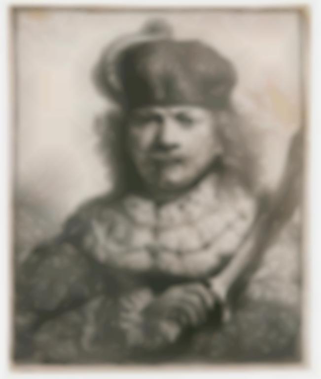 Rembrandt van Rijn-Self-Portrait With Raised Sabre (B., Holl. 18; New Holl. 134; Hind 109)-1634