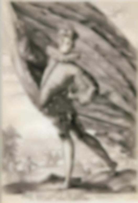 Hendrick Goltzius-The Great Standard-Bearer (Bartsch 125; Hollstein 255; Strauss 253)-1587