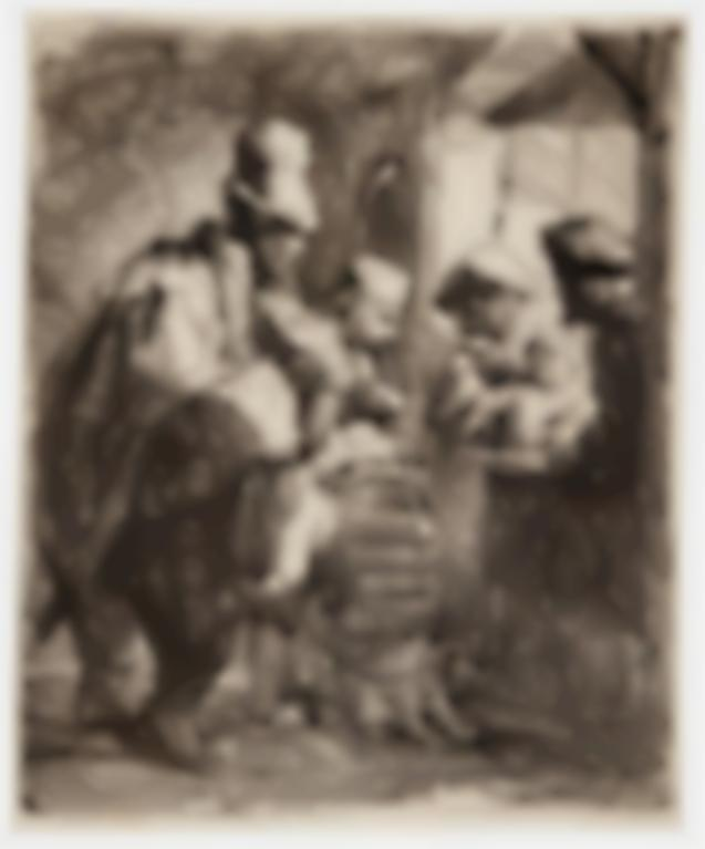 Rembrandt van Rijn-The Strolling Musicians; And Naked Woman On A Mound (B., Holl. 119, 198; New Holl. 141, 88; H. 142, 43)-1635