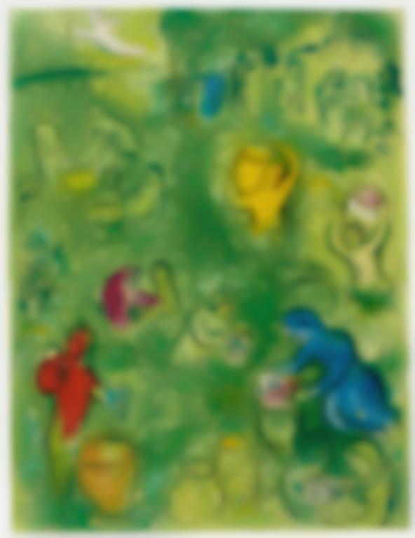 Marc Chagall-Les Vendanges (Mourlot 322)-1960