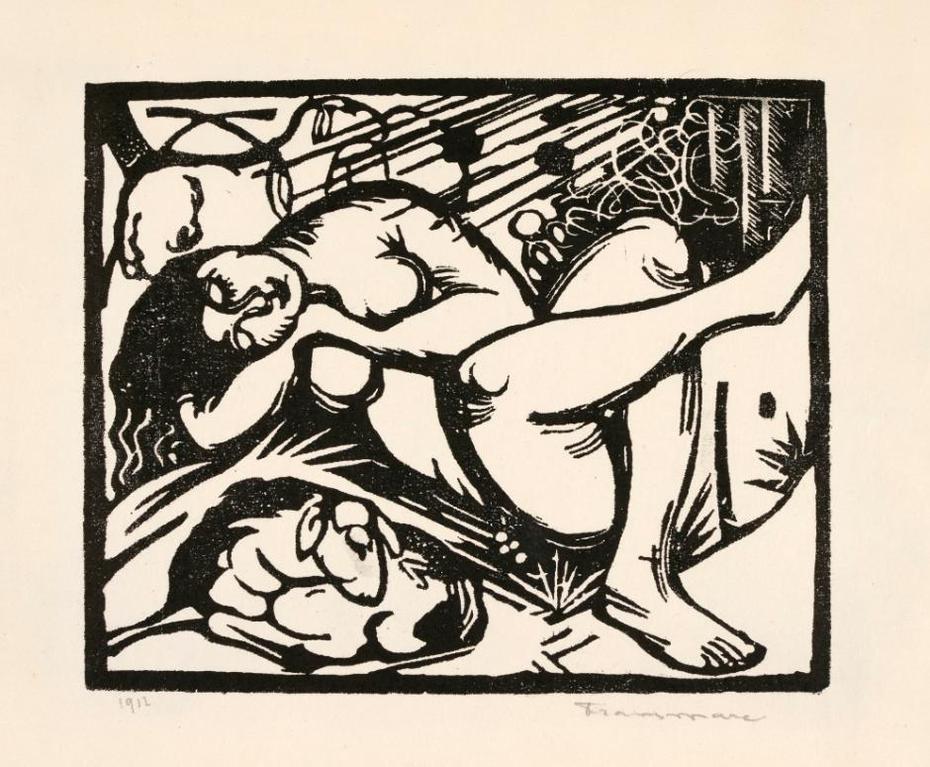Franz Marc-Schlafende Hirtin (Lankheit 829)-1912