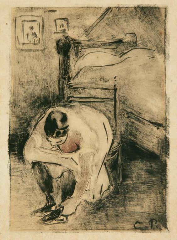 Camille Pissarro-Untitled (Femme A Sa Toilette)-1894