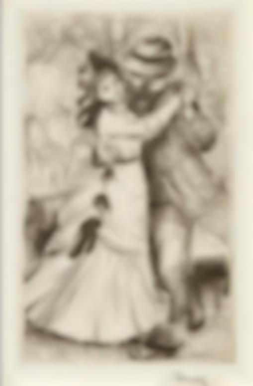 Pierre-Auguste Renoir-La Danse A La Campagne, 2E Planche (Delteil, Stella 2)-1890