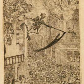 James Ensor-La Mort Poursuivant Le Troupeau Des Humains (Delteil, Tavernier 104; Elesh 106)-1896