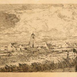 James Ensor-Grande Vue De Mariakerke; And Le Grand Bassin, Ostende (D., T., E. 13, 45)-1888