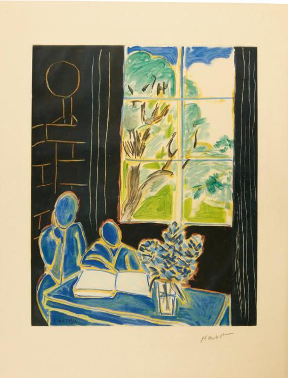 Henri Matisse-After Henri Matisse - Interieur (Not In Duthuit)-1950
