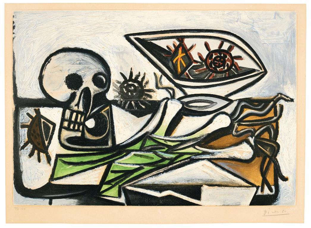 Pablo Picasso-After Pablo Picasso - Nature Morte Au Crane-1960