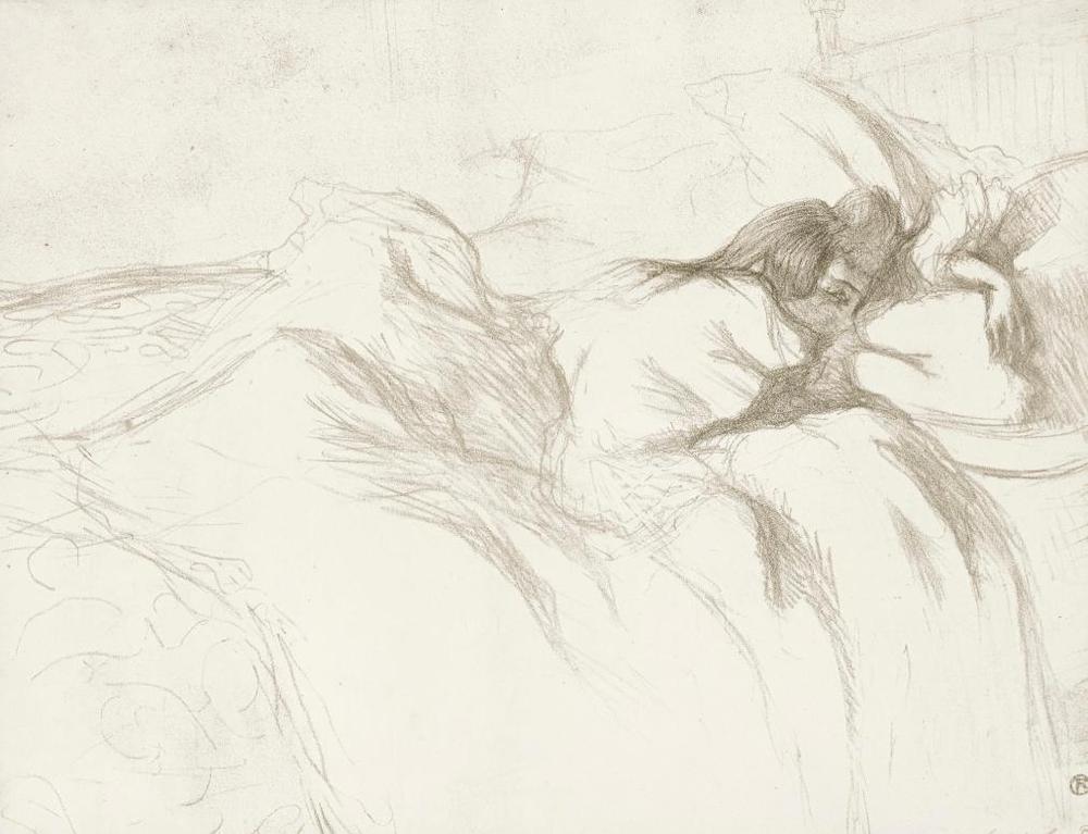 Henri de Toulouse-Lautrec-Femme Couchee - Reveil (D. 182; Adr. 174; W. 158)-1896