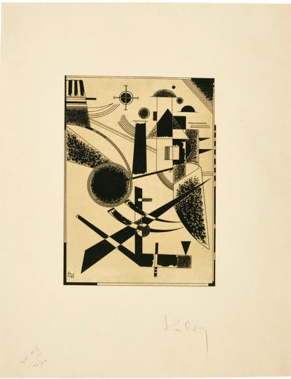 Wassily Kandinsky-Lithographie No III (Roethel 187)-1925