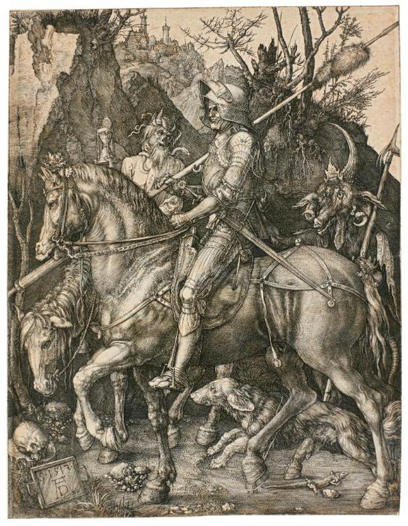 Albrecht Durer-Knight, Death And The Devil (B. 98; M., Holl. 74)-1513