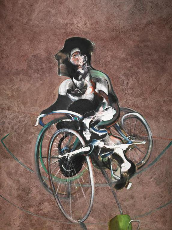Francis Bacon-After Francis Bacon - Portrait Of George Dyer Riding A Bicycle-2015