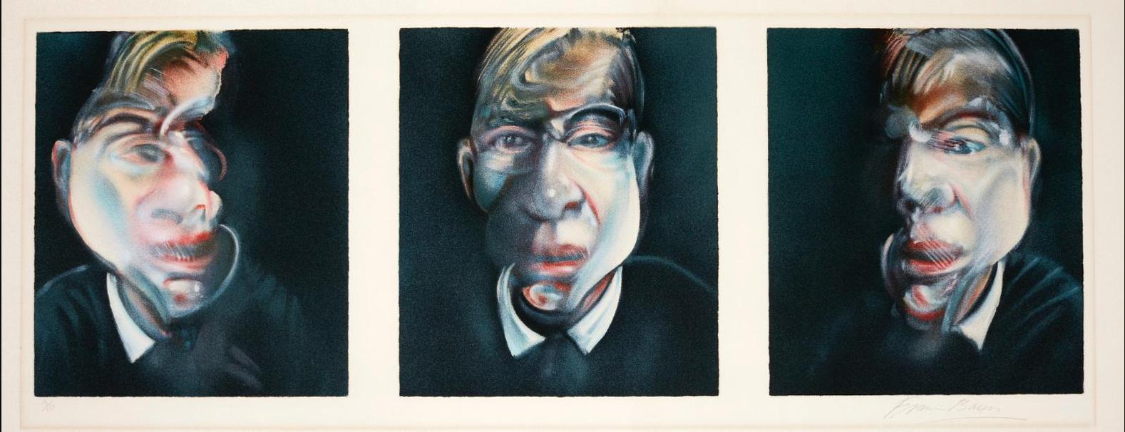 Francis Bacon-Three Studies For A Self-Portrait (Sabatier 15)-1981