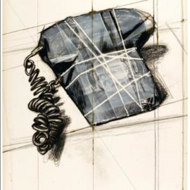 Christo and Jeanne-Claude-Wrapped Telephone, Project (Schellmann 137)-1988