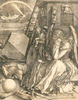 Albrecht Durer-Melencolia I (B. 74; M., Holl. 75)-1514