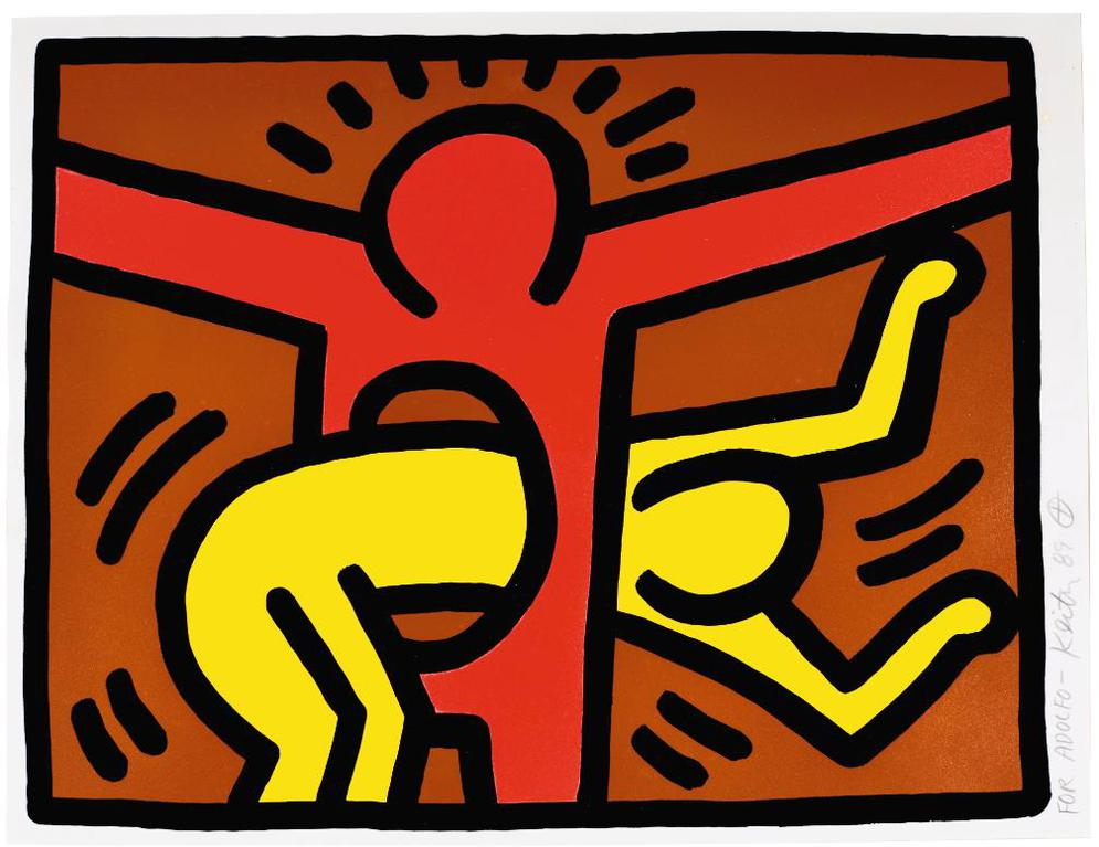 Keith Haring-Pop Shop IV: One Plate (L. P. 147)-1989