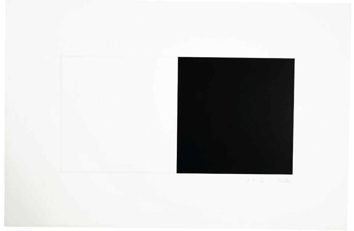 Ellsworth Kelly-White And Black (Axsom 87)-1973