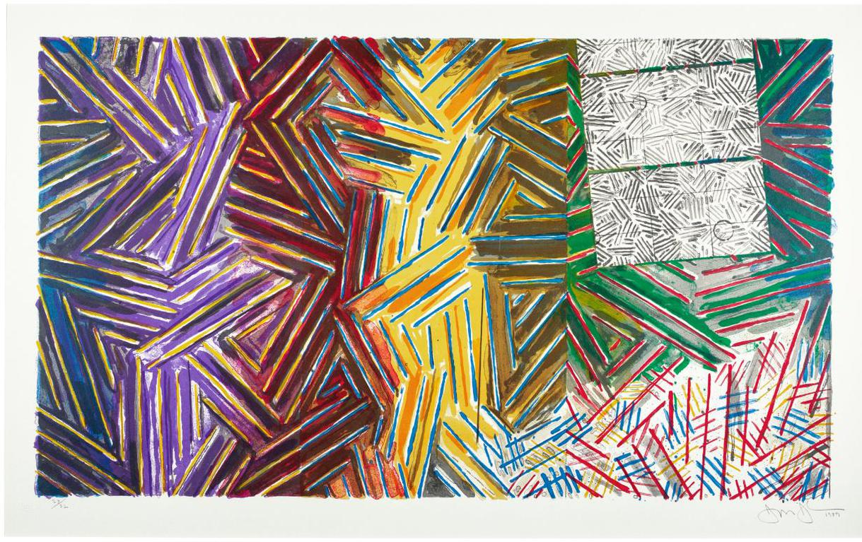 Jasper Johns-Between The Clock And The Bed (Universal Limited Art Editions 245)-1989
