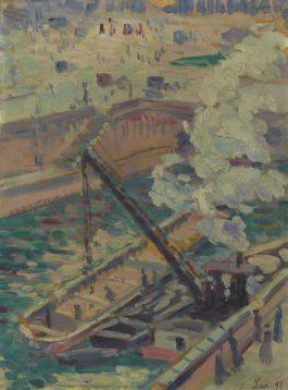 Maximilien Luce-Pochade Pour Notre-Dame-1899