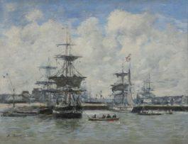 Eugene Louis Boudin-Le Port De Trouville-1875