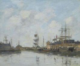 Eugene Louis Boudin-Fecamp. Le Bassin-1894