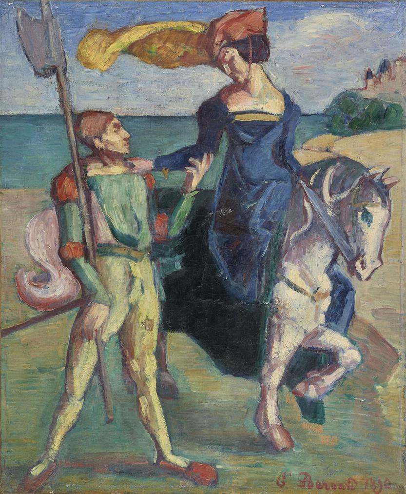 Emile Bernard-Guerrier Et Amazone-1890
