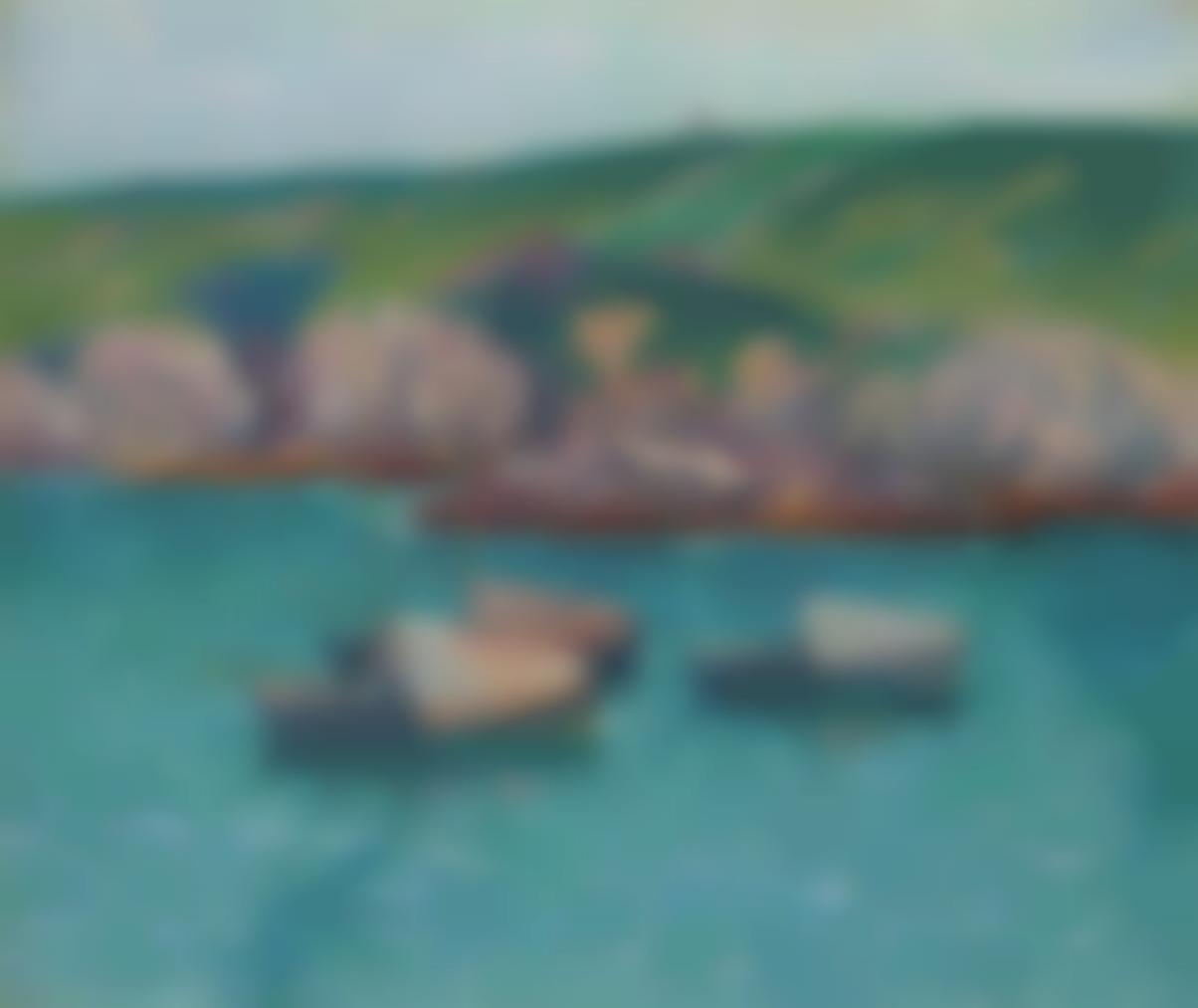 Henry Moret-Les Barques A Doelan-1896
