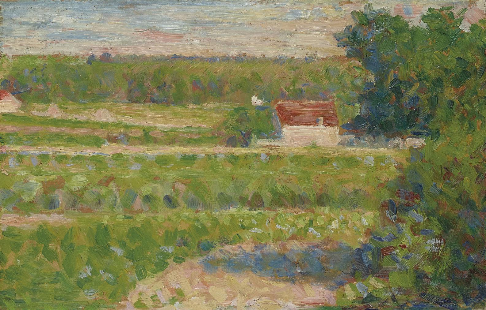 Georges Seurat-La Maison Au Toit Rouge-1883
