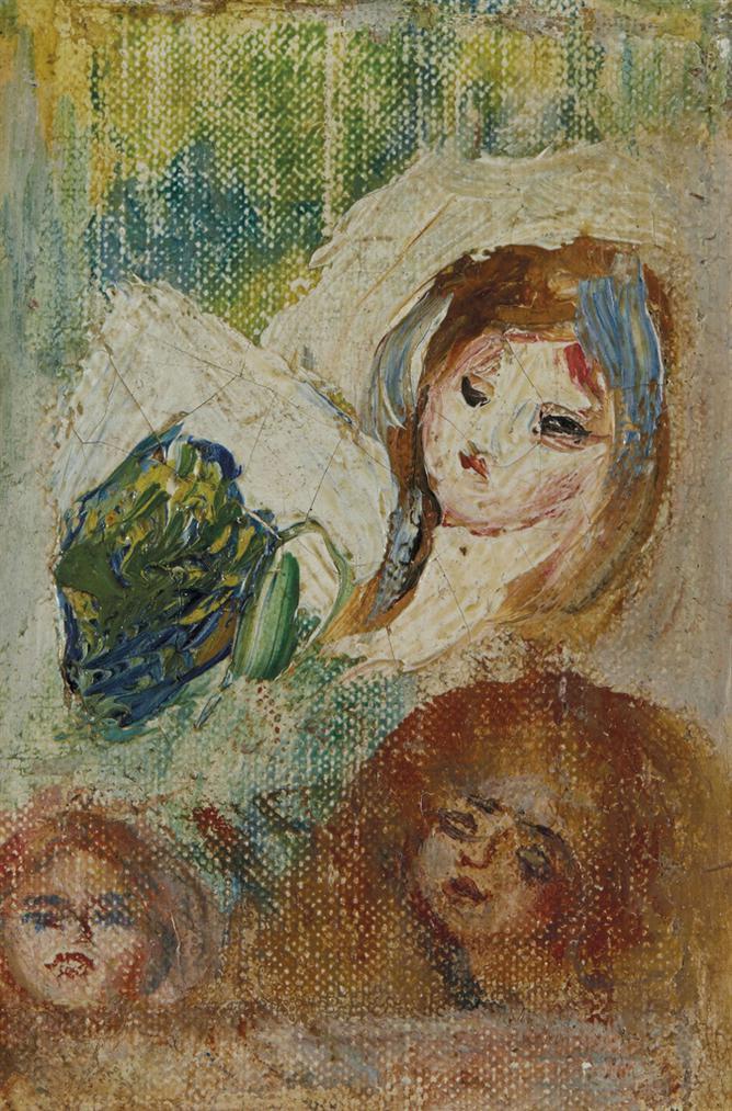 Pierre-Auguste Renoir-Etude De Tetes-1898