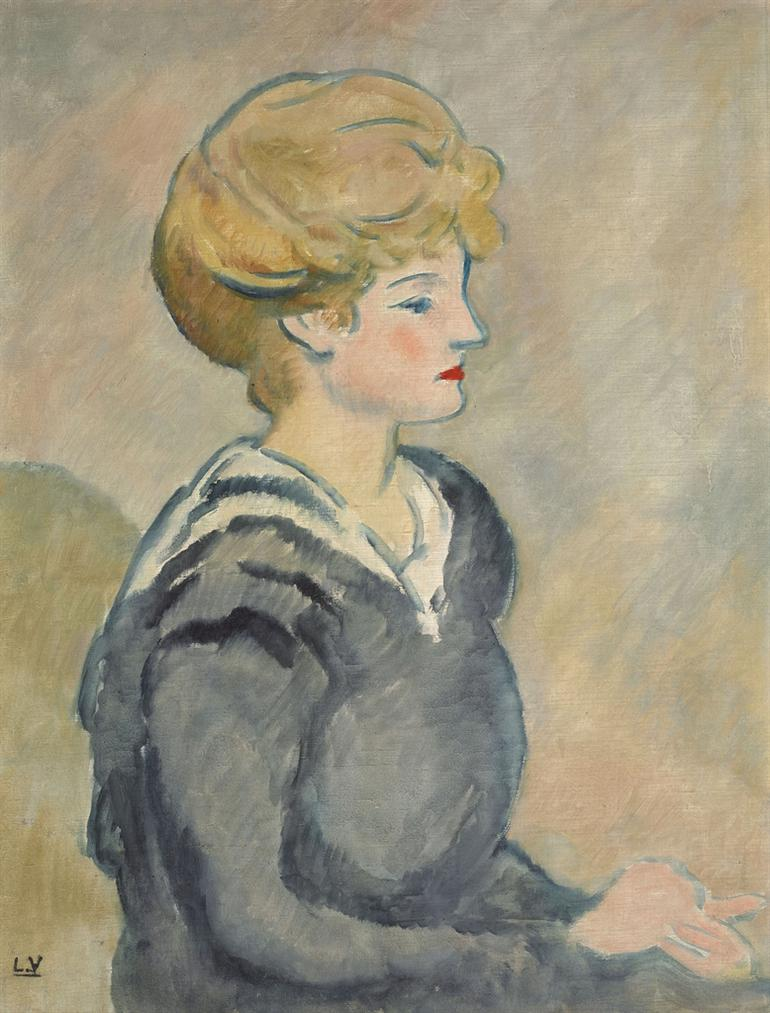 Louis Valtat-Jeune Femme A La Mariniere-1914