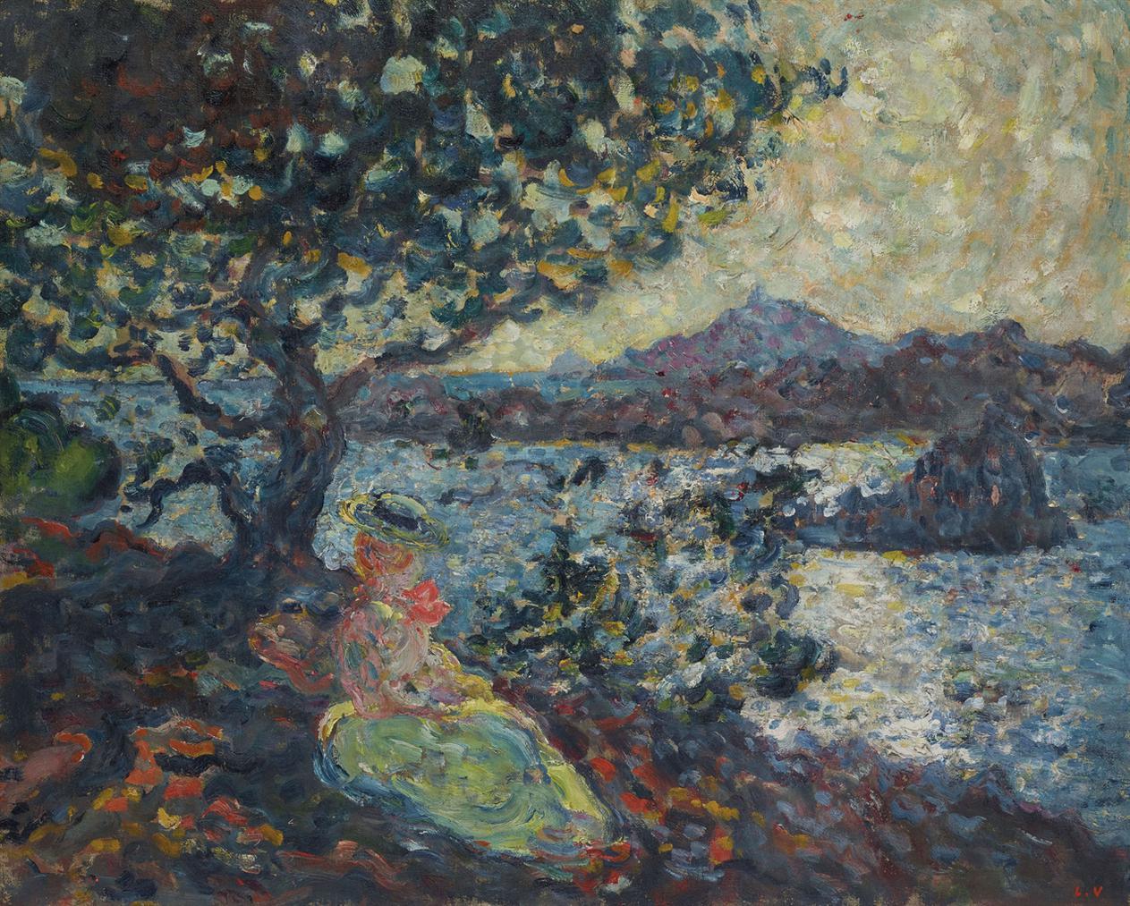 Louis Valtat-Femme Assise Au Bord De La Mer-1902