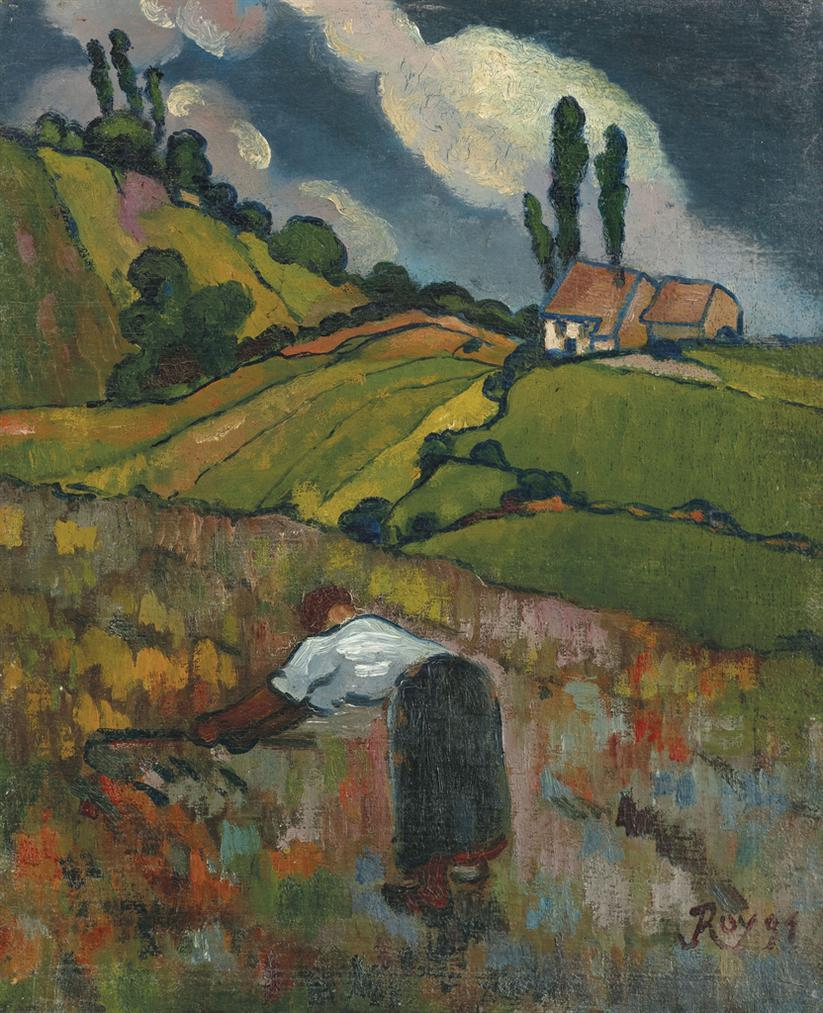Louis Roy - Paysanne A La Moisson-1891