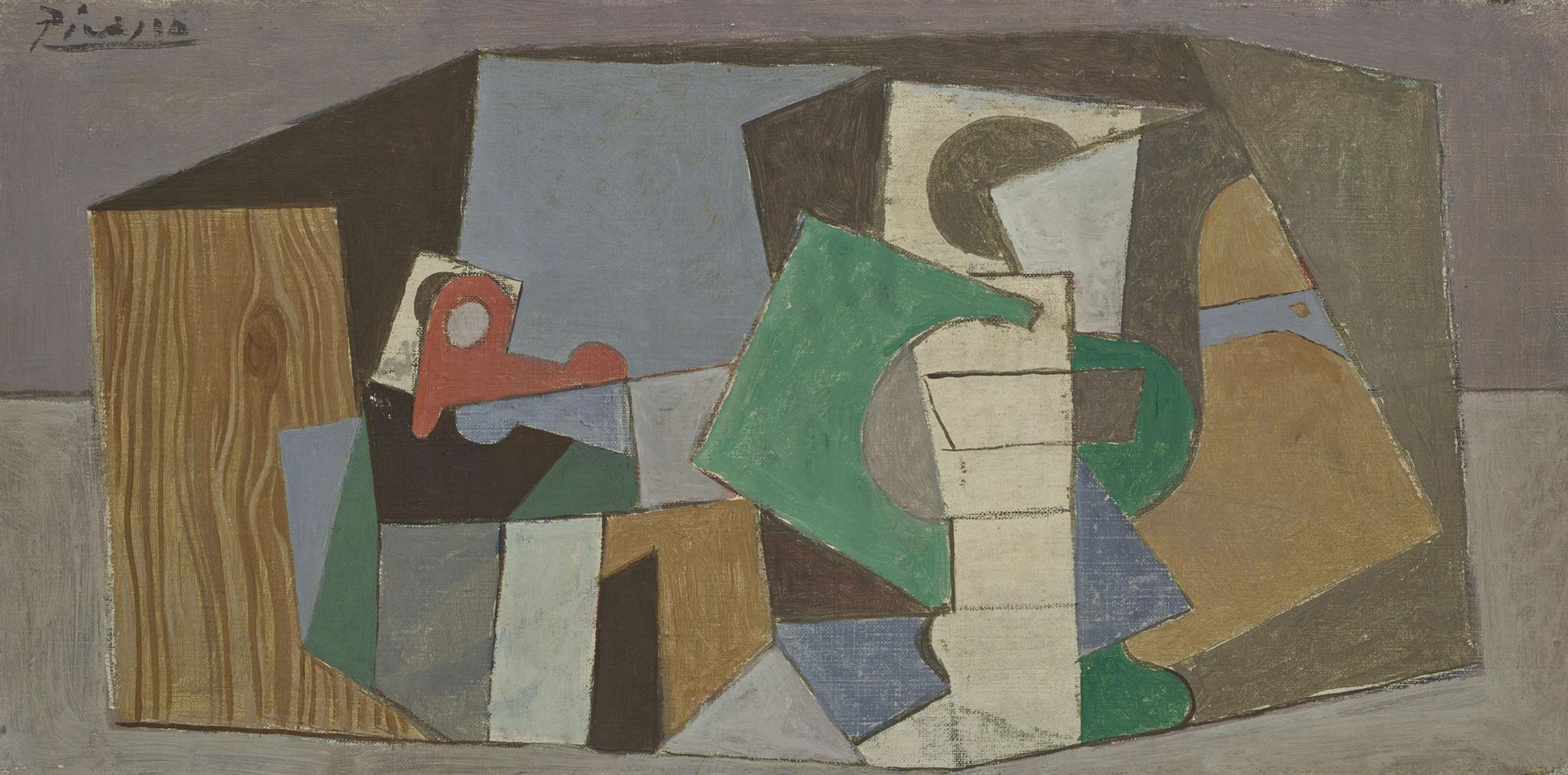 Pablo Picasso-Verre Et Pipe-1917
